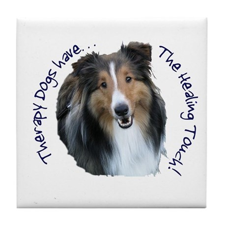 Therapy Dogs...Healing Touch Tile Coaster