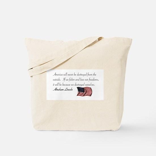 If We Falter Tote Bag