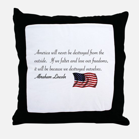 If We Falter Throw Pillow