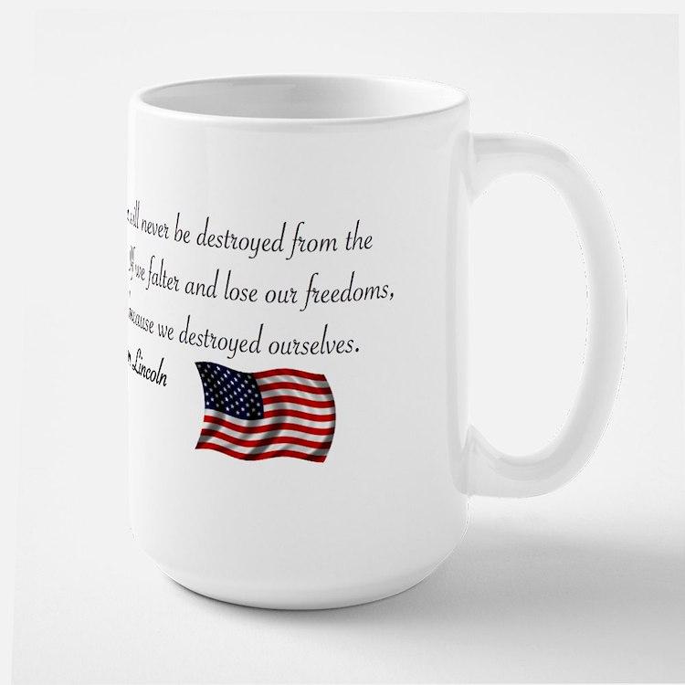 If We Falter Large Mug