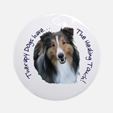 Therapy Dogs...Healing Touch Ornament (Round)