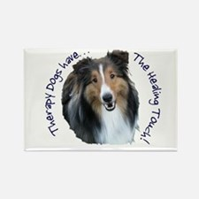 Therapy Dogs...Healing Touch Rectangle Magnet