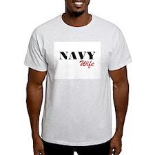 Navy Wife Ash Grey T-Shirt