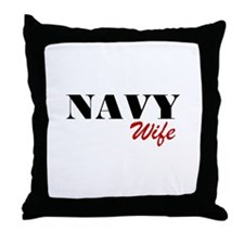 Navy Wife Throw Pillow