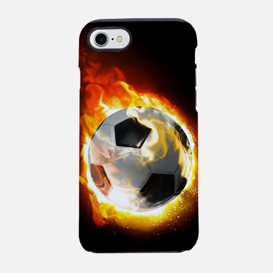 Soccer Fire Ball iPhone 7 Tough Case