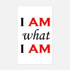 I Am What I Am Rectangle Decal