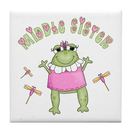 Froggy Middle Sister Tile Coaster