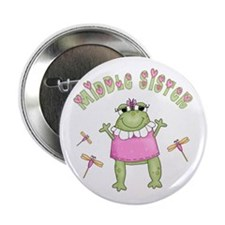 """Froggy Middle Sister 2.25"""" Button"""