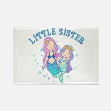 Cute Mermaids Little Sister Rectangle Magnet