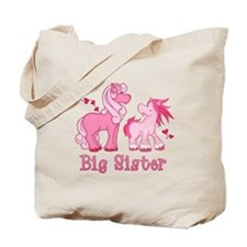 Pink Ponys Big Sister Tote Bag