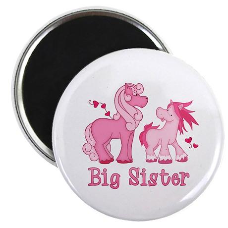 Pink Ponys Big Sister Magnet