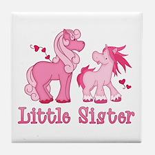 Pink Ponys Little Sister Tile Coaster