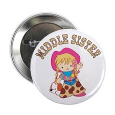 """Cowkids Middle Sister 2.25"""" Button (100 pack)"""