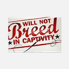 Will Not Breed in Captivity Rectangle Magnet