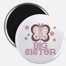 "Pink Butterfly Big Sister 2.25"" Magnet (10 pack)"