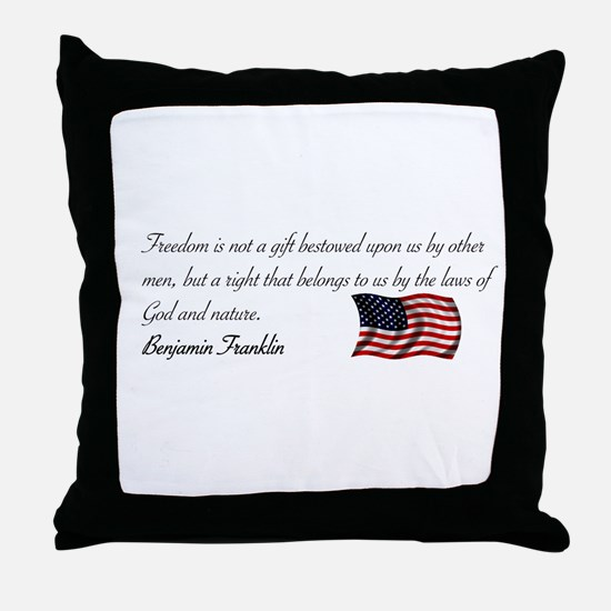 The Laws of God and Nature Throw Pillow