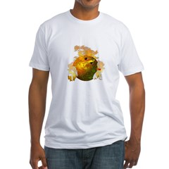 Flaming Bowling Ball Fitted T-Shirt