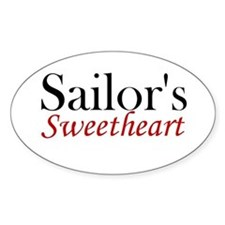Sailor's Sweetheart Oval Decal