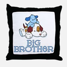 Cute Puppys Big Brother Throw Pillow