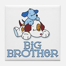 Cute Puppys Big Brother Tile Coaster