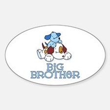 Cute Puppys Big Brother Oval Decal