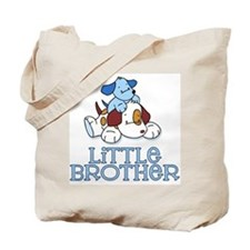 Cute Puppys Little Brother Tote Bag