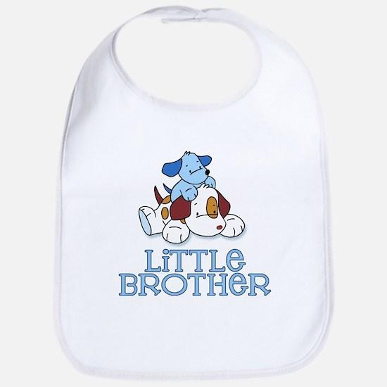 Cute Puppys Little Brother Bib