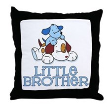 Cute Puppys Little Brother Throw Pillow