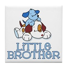 Cute Puppys Little Brother Tile Coaster