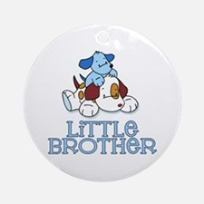 Cute Puppys Little Brother Ornament (Round)