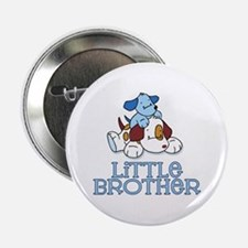 "Cute Puppys Little Brother 2.25"" Button"