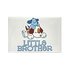 Cute Puppys Little Brother Rectangle Magnet