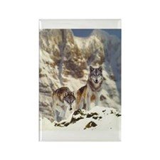 """""""Wolf Pair"""" Rectangle Magnet"""
