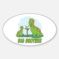 Dino Duo Big Brother Oval Decal