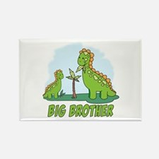 Dino Duo Big Brother Rectangle Magnet