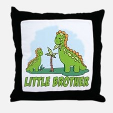 Dino Duo Little Brother Throw Pillow