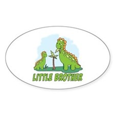 Dino Duo Little Brother Oval Decal