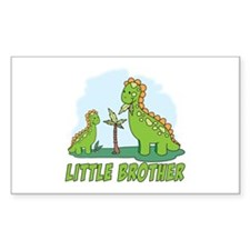 Dino Duo Little Brother Rectangle Decal