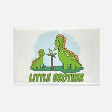 Dino Duo Little Brother Rectangle Magnet