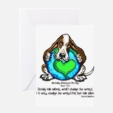 Cute Homeless pets Greeting Card