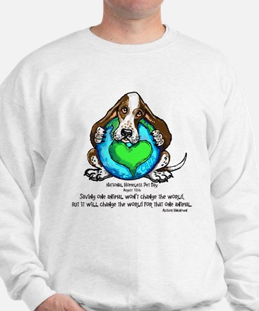 Cute Basset hound mothers day Sweatshirt