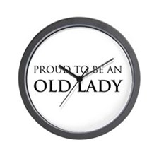Proud Old Lady Wall Clock
