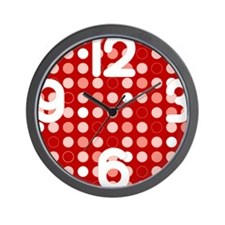 Red Dot Wall Clock