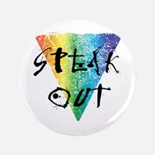 """Speak Out 3.5"""" Button (100 pack)"""