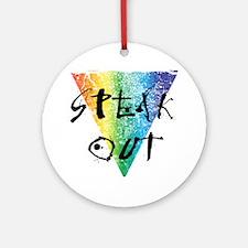 Speak Out Ornament (Round)