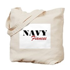 Navy Fiancee Tote Bag