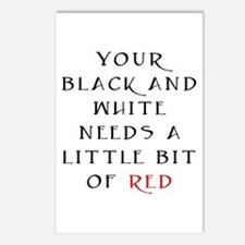 Little Bit of Red Postcards (Package of 8)