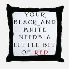 Little Bit of Red Throw Pillow