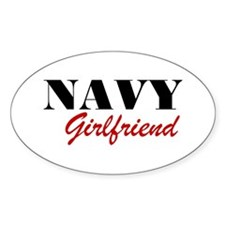 Navy Girlfriend Oval Decal