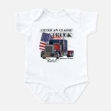 Classic Peterbilt Truck Infant Bodysuit